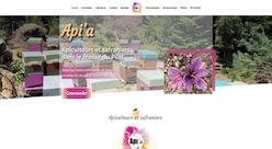 Site internet Apia miel créé par Pierre LAURENT - Weboptimus - Webmaster